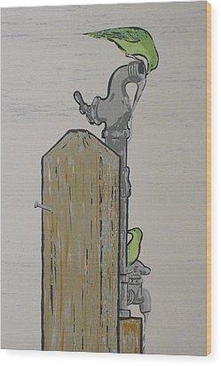 Thursty Birds Wood Print by John  Svenson
