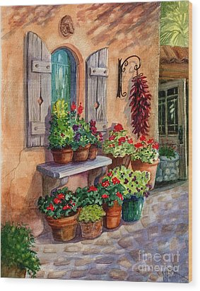 Tia Rosa's Place Wood Print by Marilyn Smith