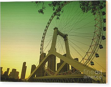 Tianjin Eye  Wood Print by Yew Kwang