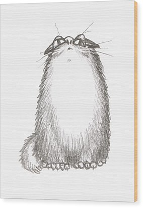 Tibby Anxious Wood Print