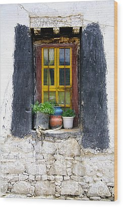Tibet Window Wood Print