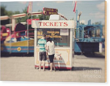 Ticket Booth Wood Print by K Hines