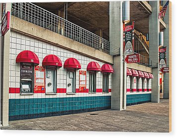 Ticket Windows Wood Print by Robert FERD Frank