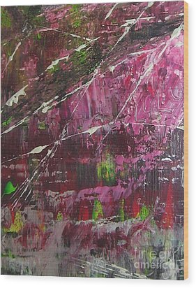 Wood Print featuring the painting Tickled Pink by Lucy Matta