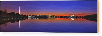 Tidal Basin Sunrise Wood Print by Metro DC Photography