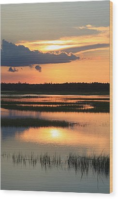 Tidal Marsh- Wilmington Nc Wood Print by Mountains to the Sea Photo