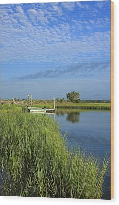 Tidal Marsh Wrightsville Beach Wood Print by Mountains to the Sea Photo
