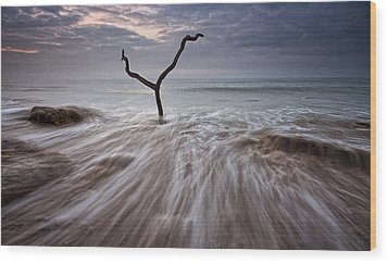 Tidal Rush Wood Print by Mark Leader