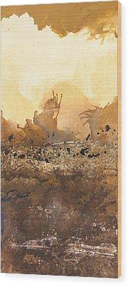 Tidal Sunrise Panel 3 Wood Print by Craig Tinder