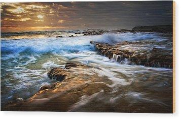 Tidal Wash Wood Print