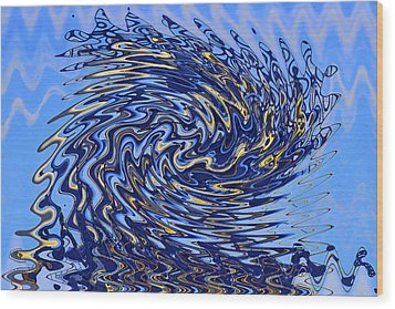 Wood Print featuring the photograph Tidal Wave by Gary Holmes