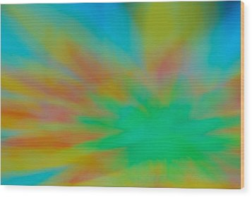 Tie Dye Abstract Wood Print