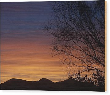 Tie Dye Sky Wood Print