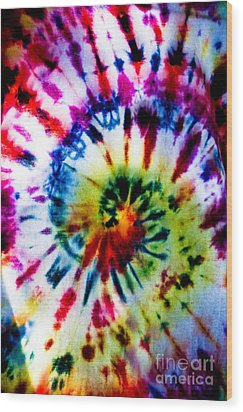 Tie Dyed T-shirt Wood Print