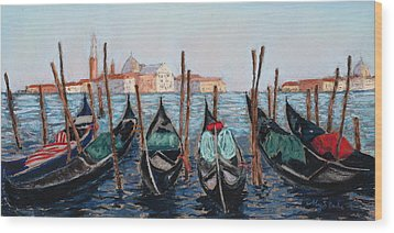 Tied Up In Venice Wood Print