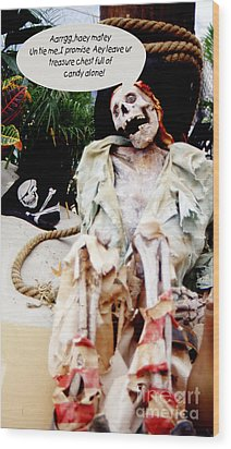 Tied Up Pirate Wood Print by Gary Brandes