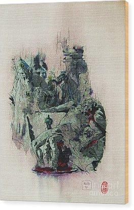 Tiepolos  Death Of Seneca Wood Print by Roberto Prusso
