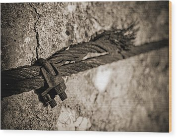 Wood Print featuring the photograph Ties That Bind by Amber Kresge