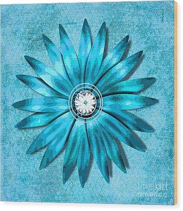 Tiffany Blue And Diamonds Too Wood Print by Saundra Myles