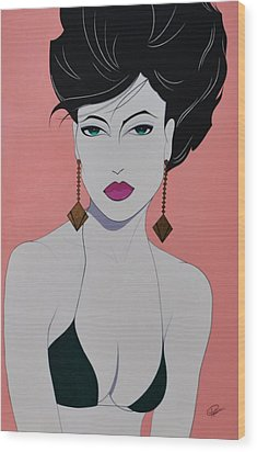 Tiffany Wood Print by Patrice Clark