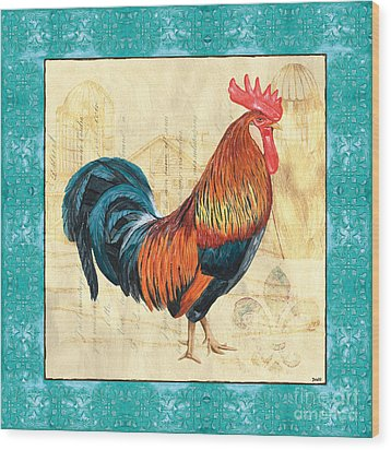 Tiffany Rooster 1 Wood Print
