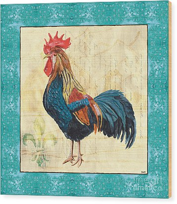 Tiffany Rooster 2 Wood Print by Debbie DeWitt