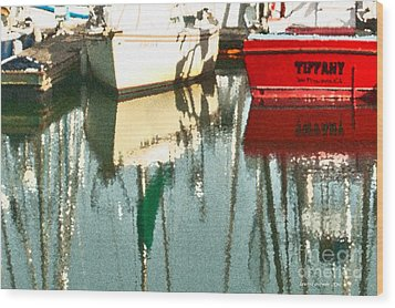 Tiffany Sailed From San Francisco To Moss Landing Wood Print by Artist and Photographer Laura Wrede