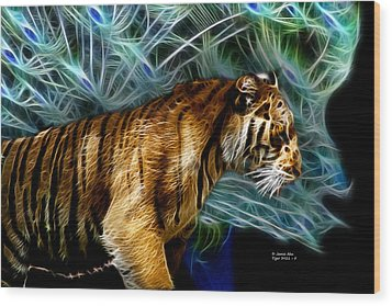 Tiger 3921 - F Wood Print by James Ahn