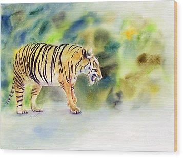 Tiger Wood Print by Amy Kirkpatrick