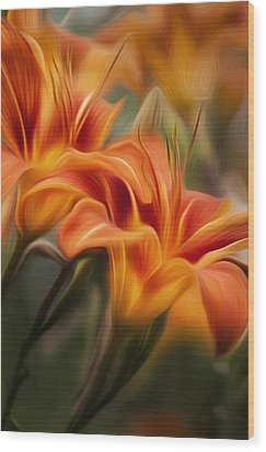 Tiger Lily Wood Print by Bill Wakeley