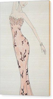 Tiger Lily Dress Wood Print by Christine Corretti