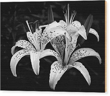 Tiger Lily I Wood Print by Jeff Burton