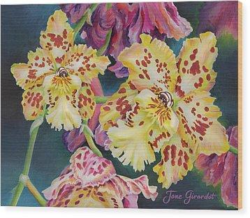 Tiger Orchid Wood Print