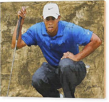 Tiger Wood Print by Robert Smith