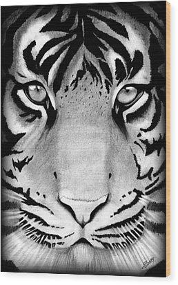 Tiger Wood Print by Saki Art
