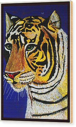 Tiger Wood Print by Saundra Myles