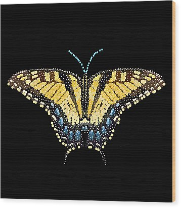 Tiger Swallowtail Butterfly Bedazzled Wood Print by R  Allen Swezey