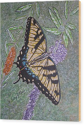 Tiger Swallowtail Butterfly Wood Print by Kathy Marrs Chandler