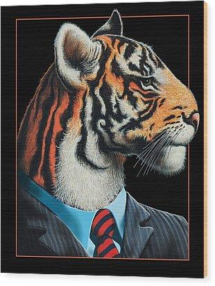 Tigerman Wood Print by Scott Ross