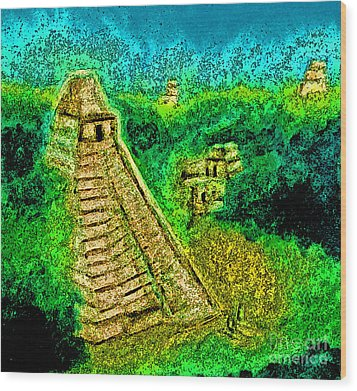 Tikal By Jrr Wood Print by First Star Art