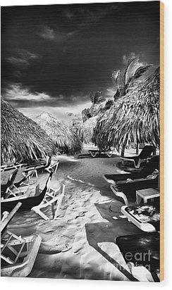 Tiki Zone Wood Print by John Rizzuto