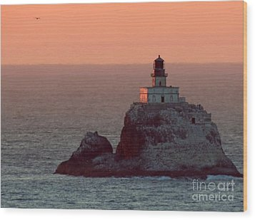 Tillamook Rock Lighthouse Wood Print by Chris Anderson