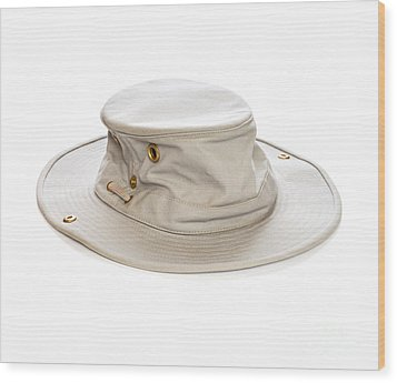 Tilley Hat Wood Print by Colin and Linda McKie