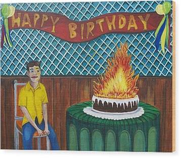 Tillies Last Birthday Party Wood Print by Patricia Arroyo