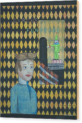 Tillies One Second Dream Wood Print by Patricia Arroyo