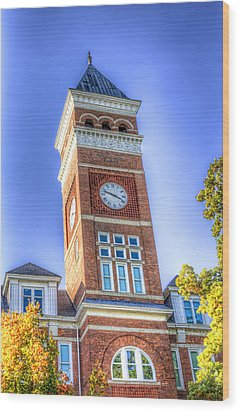 Tillman Clock Tower Wood Print