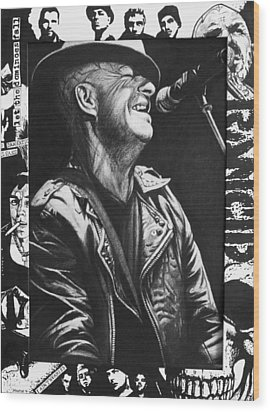 Tim Armstrong Wood Print