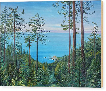 Timber Cove On A Still Summer Day Wood Print