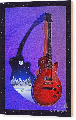 Magic To The World... Music To The World .1 Wood Print by Gem S Visionary