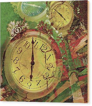 Time 6 Wood Print